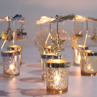 Christmas Rotary Candle Holder Merry Christmas Decorations for Home Xmas Gifts