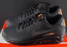 Nike Air Max 90 Paquete de cuadrícula de Halloween Negro Naranja UK 12 EU 47.5 nos 13 OG Zapatillas