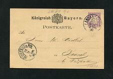 Bayern - Ganzsache aus Landau vom 24.11.1890   (DDR1)