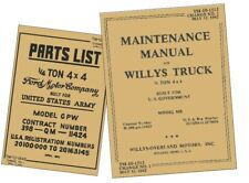 More details for willys mb ford gpw miltary jeep repair maintenance manuals tm 10-1513 tm 10-1348
