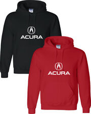ACURA Hoodie ACURA MEN'S White LOGO Unisex T-Shirt Hooded Sweatshirt
