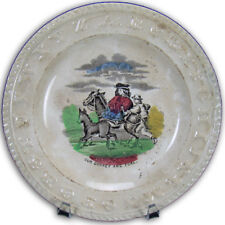 """Early Abc's Plate - """"Our Donkey and Foal"""""""