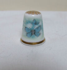 SPODE FINE BONE CHINA BLUE BUTTERFLIES THIMBLE COLLECTABLE