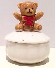 Ceramic Teddy Bear Ring Box/Jewelry/Trinket, Vintage