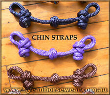 KNOTTED ROPE CHIN STRAP - Professionally Made- 35 Colours Available