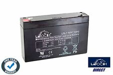 LEOCH BATTERY LEAD ACID AGM 6V 7AH LP6-7.0 Rechargeable