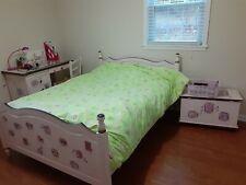 Hand painted wood bedroom set