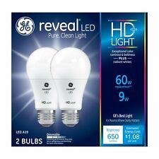 GE  LED Reveal 9 (60-watt Replacement), 2-Pack