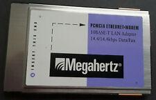 Megahertz PCMCIA Internet-Modem 10Base T Lan Adapter 14 4/14.4kbps Data/Fax Card