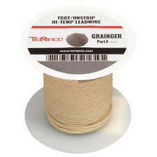 High Temp Lead Wire,16AWG,250ft,Natural LDWR-1047