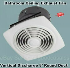 "BATHROOM CEILING EXHAUST FAN Bath Room Kitchen Ventilation 8"" Round Duct White"
