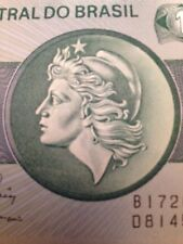 BRAZIL 1972 1 CRUZEIRO UNCIRCULATED BANKNOTE P-191 LIBERTY HEAD FROM USA SELLER