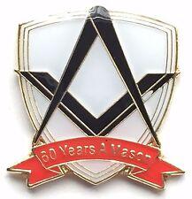 60 años a Mason Masónico Conmemorativa Pin De Solapa Sin G