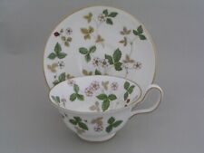 WEDGWOOD WILD STRAWBERRY PEONY CUP AND SAUCER.