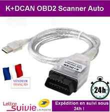 INTERFACE CABLE K+DCAN OBD OBD2 BMW & MINI - VALISE SCANNER OUTIL DIAGNOSTIQUE