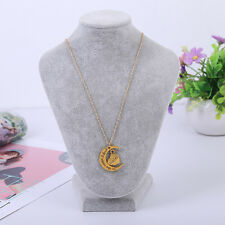 RF GOLDEN Love Half Moon For Sister To The Moon & Back Pendant Necklace