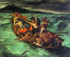 Art Oil painting Christ on the Lake of Gennesaret WITH OCEAN WAVES only canvas