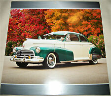 1946 Chevrolet Fleetmaster 2 dr sedan car print  (green & white)