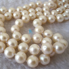 """34"""" 8-10mm AA White Freshwater Pearl Necklace Strands Jewelry U"""