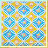 BonEful Fabric FQ Cotton Quilt VTG Yellow Aqua Blue Pink Flower Shabby Chic Dot