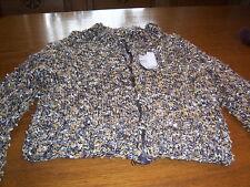 Damenjacke handgestrickt Größe 42/44 ocker natur schwarz mit Reißverschluß