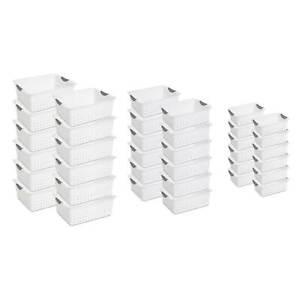 Sterilite Multi-Size Plastic Storage Basket Bin Organizer Bundle Set (36 pieces)