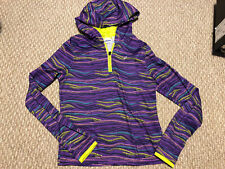 Youth Girls XL 14-16 Asics Purple Running Athletic Pullover Hoodie Top