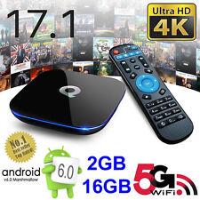 2017 Q-Box Android 6.0 TV-box 17.1 4K Media Player 2GB+16GB Quad Core 5Ghz WI-FI