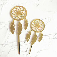 gold acrylic big small dreamcatcher collection cake topper for party decor RK