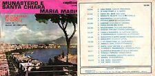 DISCO 45 GIRI    MAURO DE GREGORIO - MONASTERO E SANTA CHIARA / MARIA MARI'