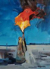 JOSE TRUJILLO Oil Painting IMPRESSIONISM FIGURE Modern Art Figure Fire MODERN
