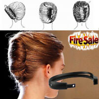 2pcs Women Hair Styling Updo Donut Bun Clip Tool French Twist Maker Holder CA RR