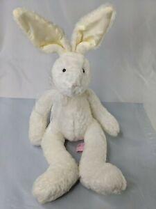 "Russ Camellia White Rabbit Plush 12"" Posable Ears Stuffed Animal Toy"