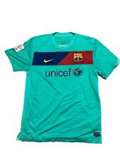 Fc Barcelone Nike Dri Fit Team Jersey Alternate Green Mens Size Large Authentic