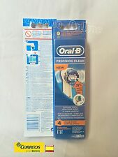 "1PACK de 4 RECAMBIOS ORIGINALES BRAUN ORAL B ""NEW"" PRECISION CLEAN ""Leer dscrip"""