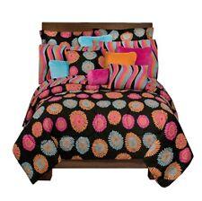 Flower Fantasy 3 Pc FULL SIZE Comforter Set -floral bedding bed in bag teen girl