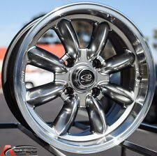 16X7 ROTA RB RIM 4X100 ROYAL HYPER BLACK WHEELS EXCLUSIVE FOR MINI COOPER