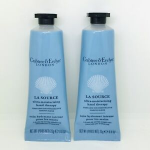 2 x Crabtree & Evelyn La Source Hand Therapy Cream 25g