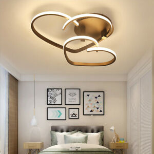 LED Ceiling Home Lights Dimmable with Remote Loving Heart Chandeliers Acrylic