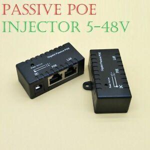 POE Power over Ethernet Passive Injector Splitter Adapter VOIP Phones IP Cameras