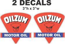 2 Oilzum Motor Oil Triangle Vinyl Decals