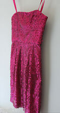 NEW! BCBG Max Azria Gorgeous Hot Pink Azalea Sequined Convertible Carole Dress 2