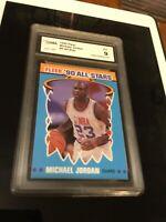 1990 Fleer All-Stars Michael Jordan Chicago Bulls #5 Basketball GMA 9 MINT