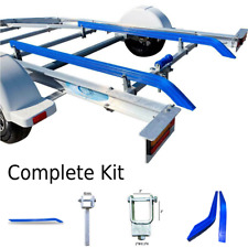 Boat Trailer Bunk Skids 1.5 Mtr 45 Degree Bends With Brackets. Complete Kit.