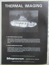 8/1980 PUB MAGNAVOX ELECTRO OPTICAL IR SYSTEMS THERMAL IMAGING NIGHT VISION AD