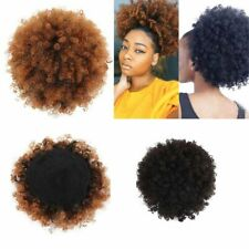 High Puff Afro Curly Wig Ponytail Drawstring Short Kinky Synthetic Curly Hair