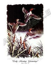 L@@K RISING PINTAILS DUCK 11x17 WATERFOWL COLORFUL PRINT by James Partee Jr