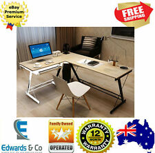 Student Office Study Table Desk L Shaped Corner Double Computer Keyboard