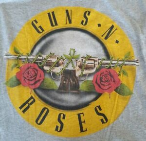 GUNS n ROSES/Grey/Muscle sleeves/Size 14--------------A1-T SHIRT