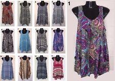 LADIES casual sleeveless Top Dress Plus Large Size 16 18 20 22 24 coverup Kaftan